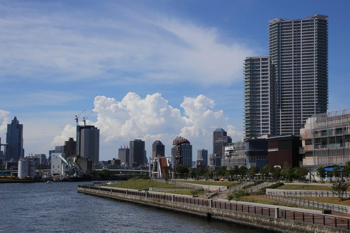 東京湾から眺める埼玉方面の積乱雲 tokyo bay cumulonimbus (15)