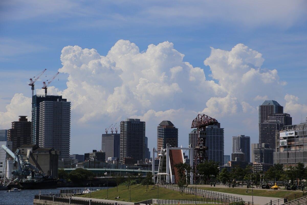 東京湾から眺める埼玉方面の積乱雲 tokyo bay cumulonimbus (16)
