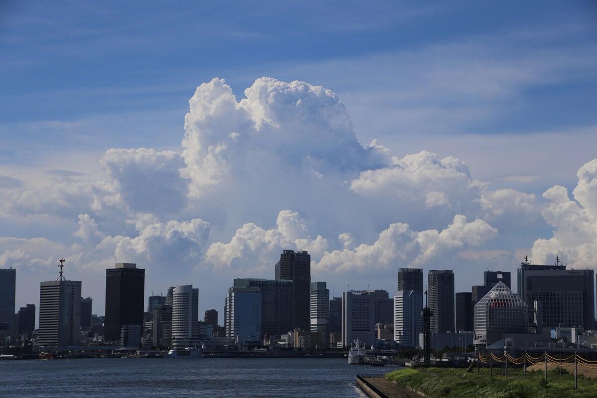 東京湾から眺める埼玉方面の積乱雲 tokyo bay cumulonimbus (6)
