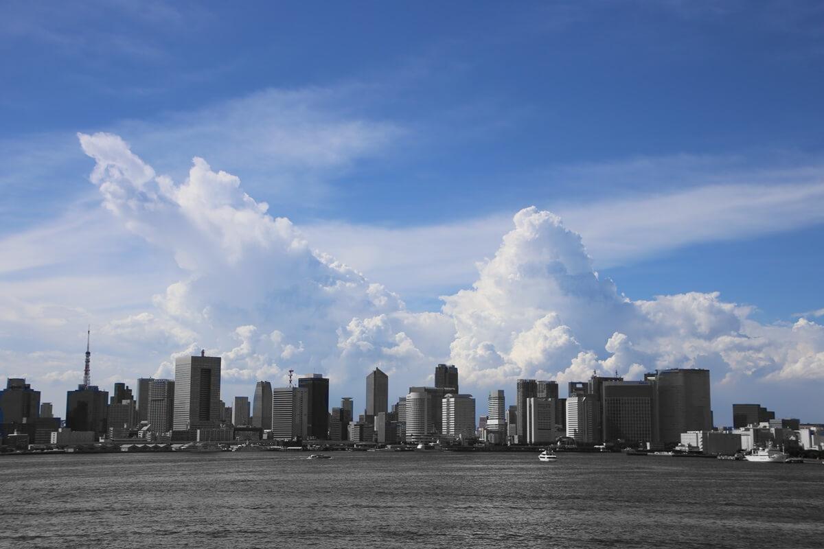 東京湾から眺める埼玉方面の積乱雲 tokyo bay cumulonimbus (7)