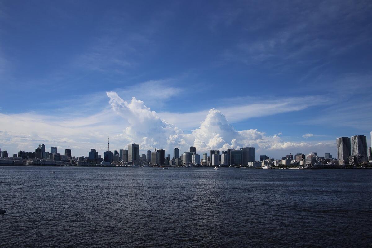 東京湾から眺める埼玉方面の積乱雲 tokyo bay cumulonimbus (8)