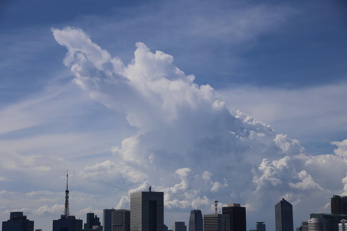 東京湾から眺める埼玉方面の積乱雲 tokyo bay cumulonimbus (9)