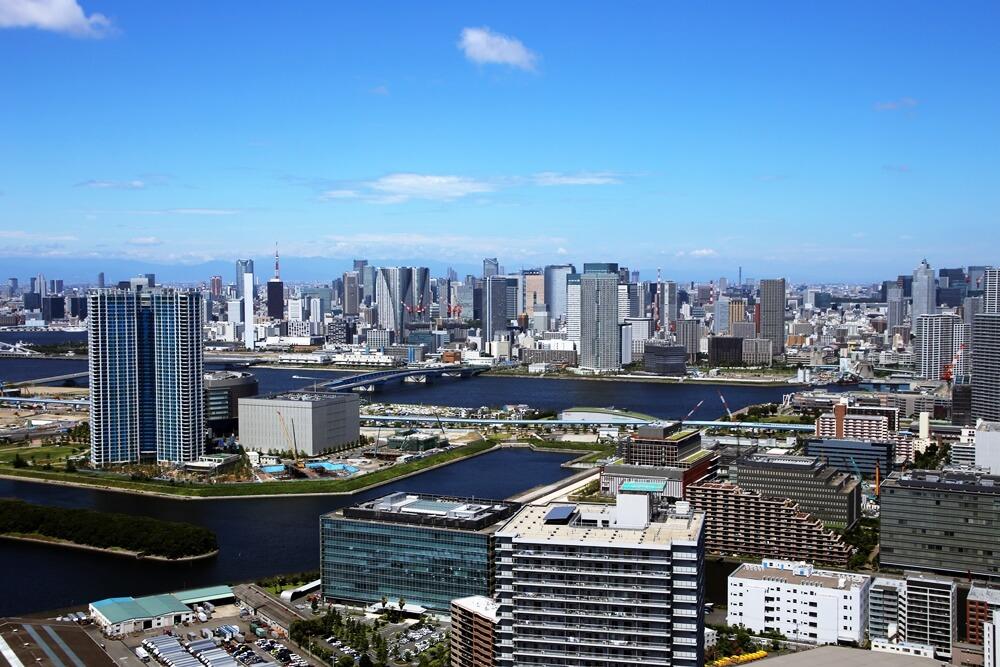 東京湾 汐留方面 tokyo_bay