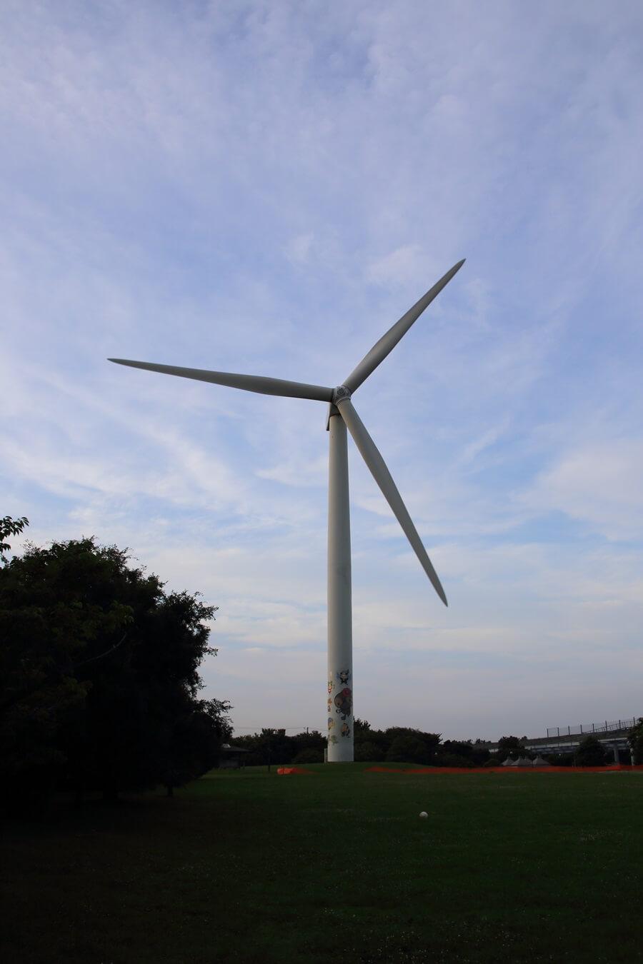 若洲海浜公園 風力発電 wind power generation (1)