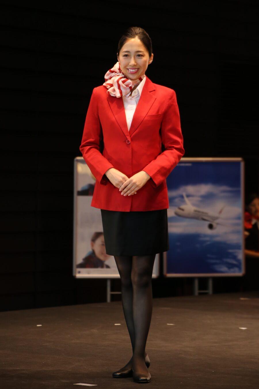 JEX初代制服 JALとJEX客室乗務員歴代制服ファッションショー 客室乗務員 スチワーデス 歴代ユニフォーム 制服 空の日フェスティバル JAL fashion show JAL Express JEX (1)