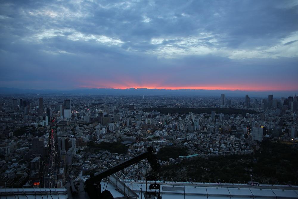 赤い夕焼け  六本木ヒルズスカイデッキから from roppongi hills (6)