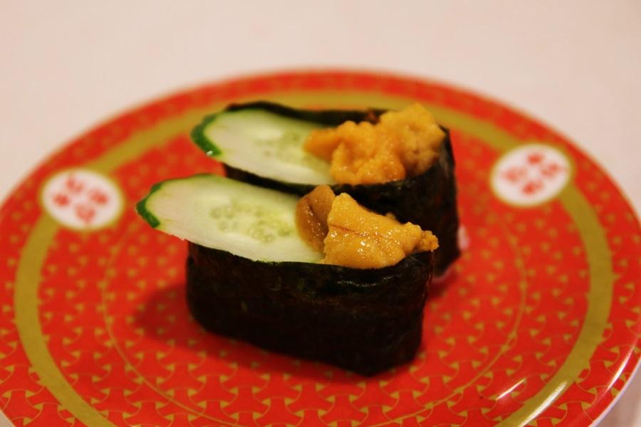 ウニ軍艦巻き 回転寿司 はま寿司 hamasushi (6)