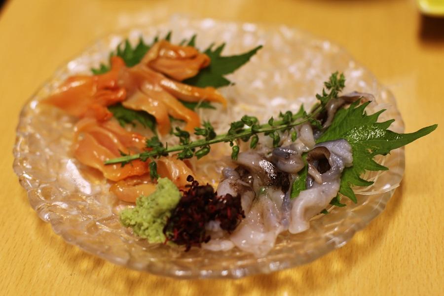 貝類の刺身盛り合わせ 豊洲 和食 安庵 toyosu anan (3)