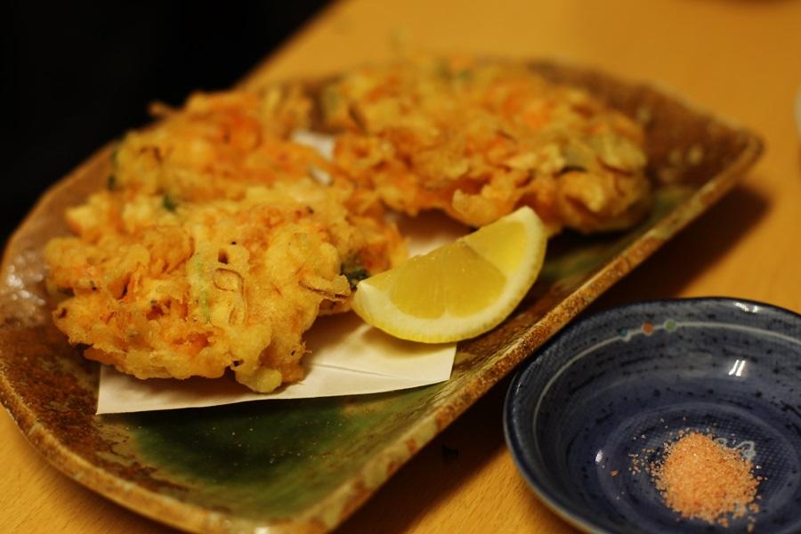 かき揚げ 天ぷら 豊洲 和食 安庵 toyosu anan (5)
