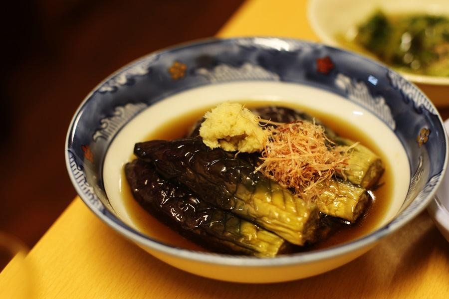 ナス煮びたし 相性ピッタリの油で揚げて漬けた 500円 豊洲 和食 安庵 toyosu anan (8)