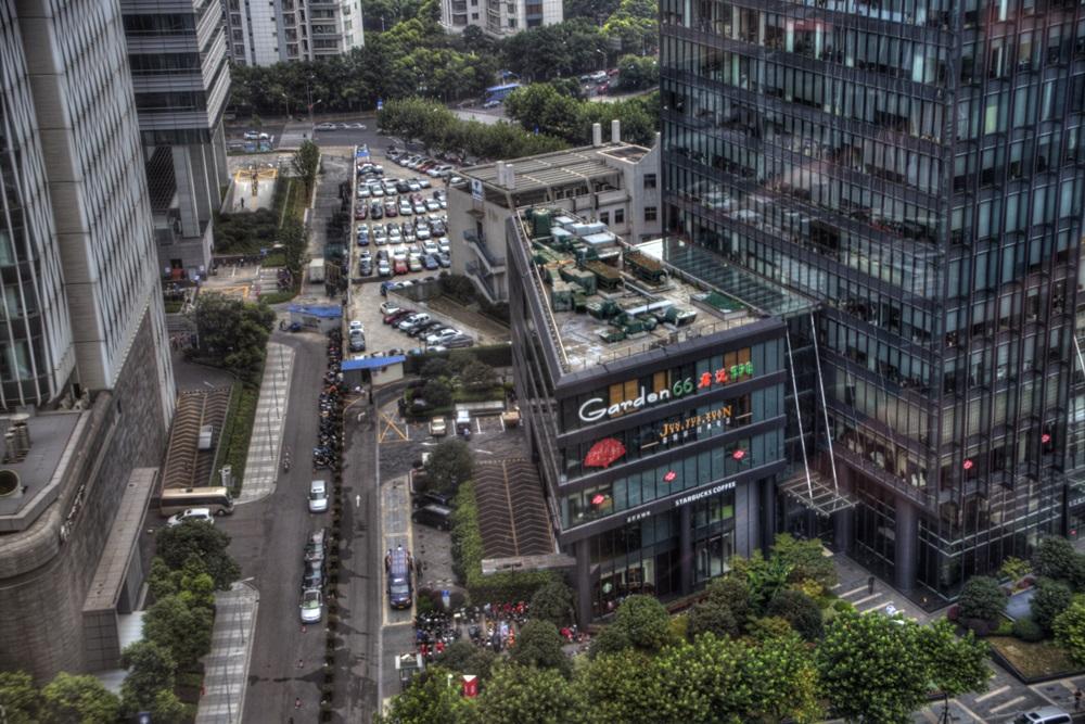17階からの景色 上海 IFCレジデンス IFC Residence (8)