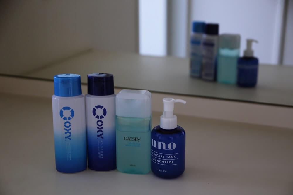 オキシー モイスト スキンケア化粧品 ギャツビー スキンケア アクアクリーム ウーノ スキンケア タンク オイル コントロール 資生堂 OXY_moist_skinsare_GATSBY_skin_care_aqua_cream_uno_skincare_tank_oil_control_shiseido