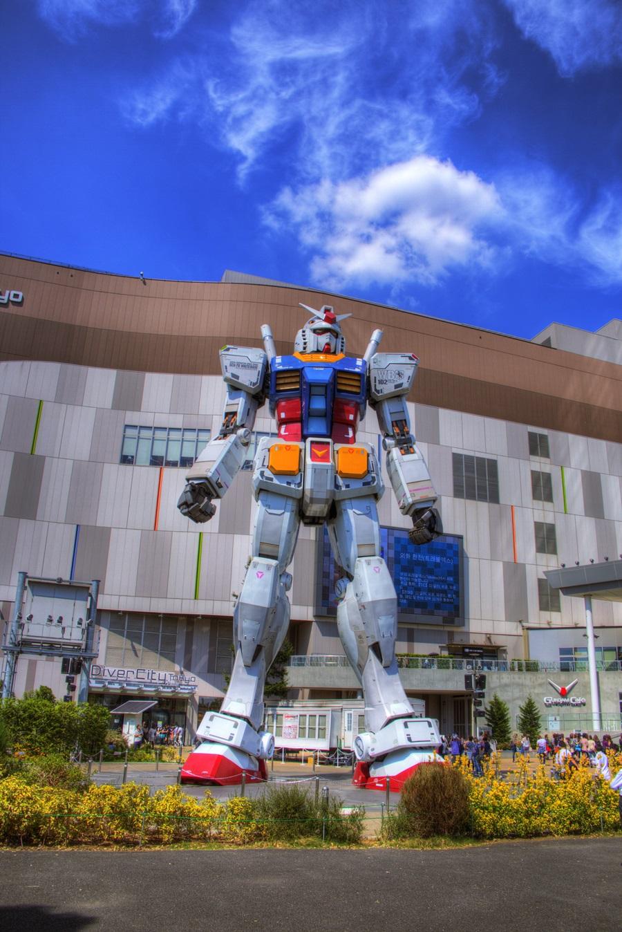 HDR写真 お台場 機動戦士ガンダム odaiba_GUNDAM_HDR (5)