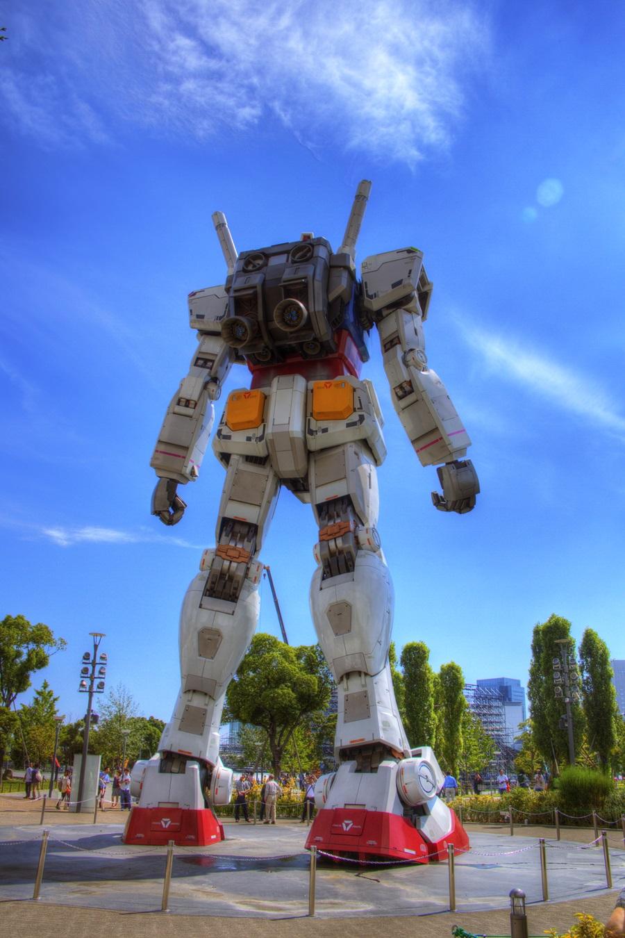HDR写真 お台場 機動戦士ガンダム odaiba_GUNDAM_HDR (8)