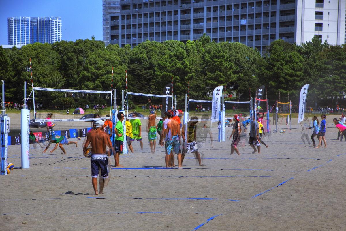 お台場ビーチ お台場海浜公園 ビーチバレー odaiba_beach (2)