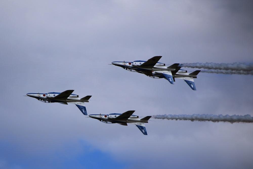 フォーシップインバーテッド  ブルーインパルス 西武池袋線 稲荷山公園駅 2014年入間基地航空祭 4 SHIP INVERTEDBlue Impulse 2014 iruma  fly team (254)