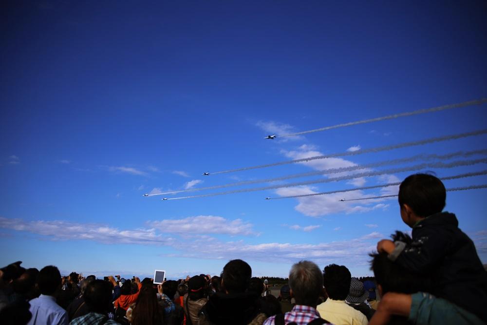 ブルーインパルス 西武池袋線 稲荷山公園駅 2014年入間基地航空祭 Blue Impulse 2014 iruma  fly team (274)