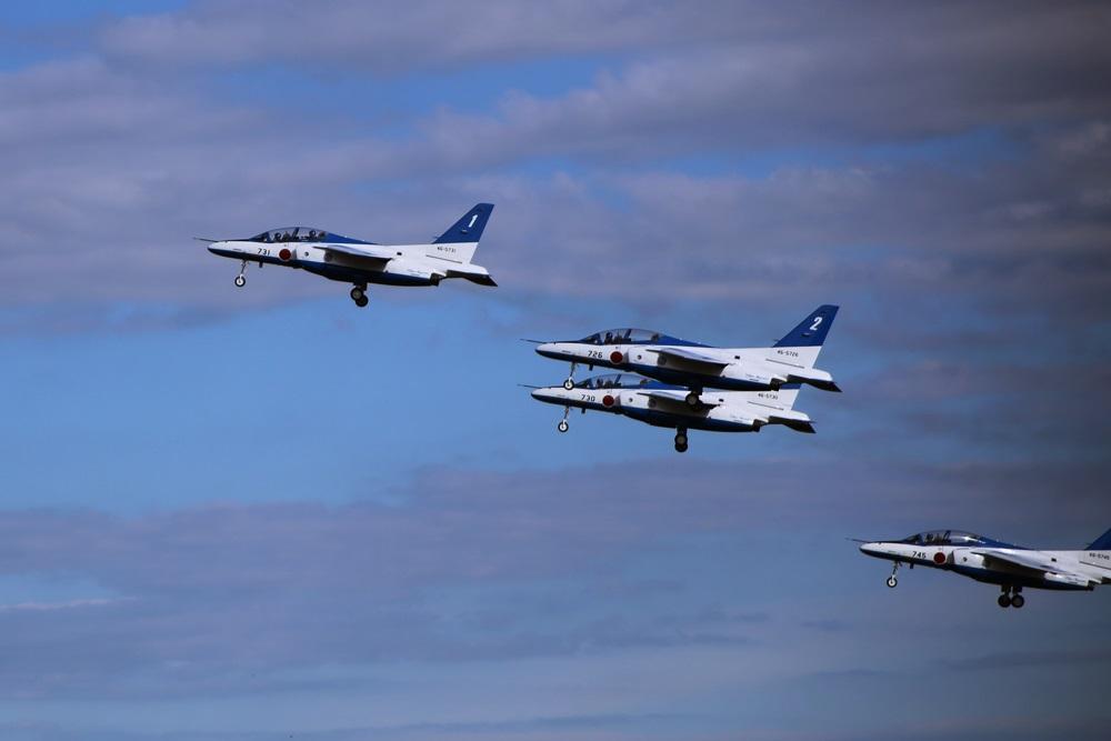ブルーインパルス 西武池袋線 稲荷山公園駅 2014年入間基地航空祭 Blue Impulse 2014 iruma  fly team (69)
