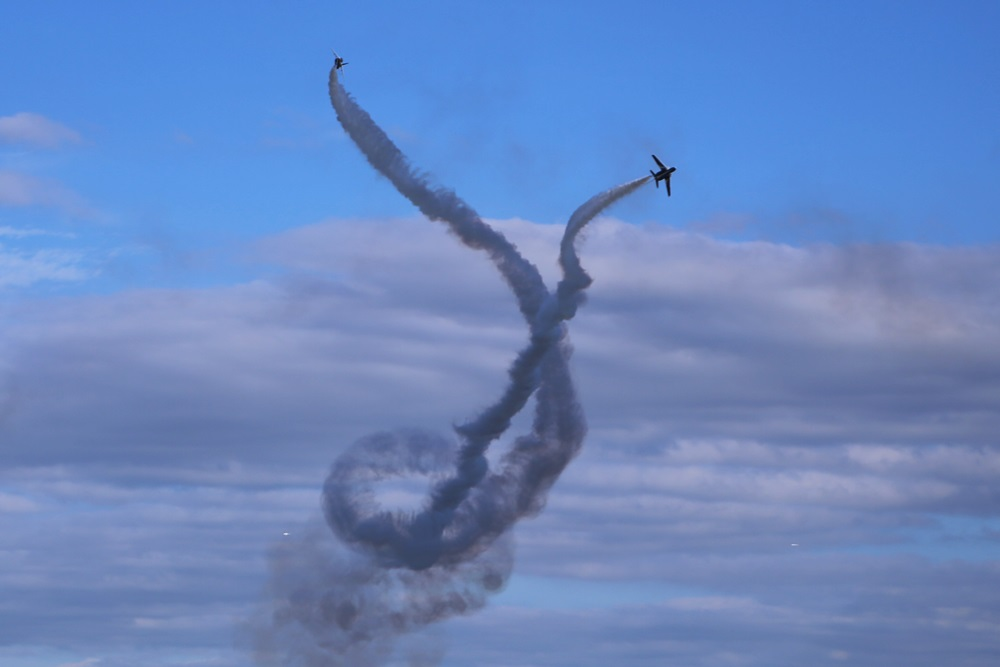 コークスクリュー ブルーインパルス 西武池袋線 稲荷山公園駅 2014年入間基地航空祭 CORKSCREW Blue Impulse 2014 iruma  fly team (329)