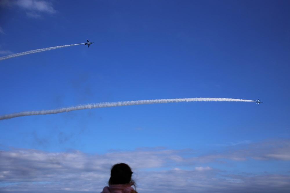 コークスクリュー ブルーインパルス 西武池袋線 稲荷山公園駅 2014年入間基地航空祭 CORKSCREW Blue Impulse 2014 iruma  fly team (331)
