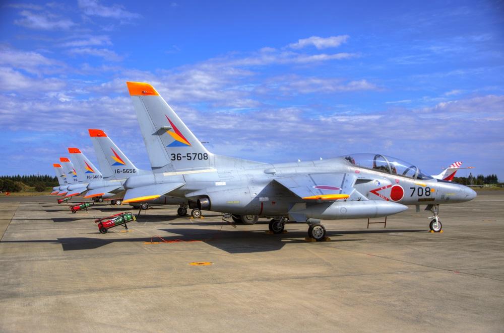 T-4 (練習機) 西武池袋線 稲荷山公園駅 2014年入間基地航空祭 T-4  T-4 2014 iruma  fly team (49)