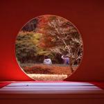 丸窓の北鎌倉 明月院。