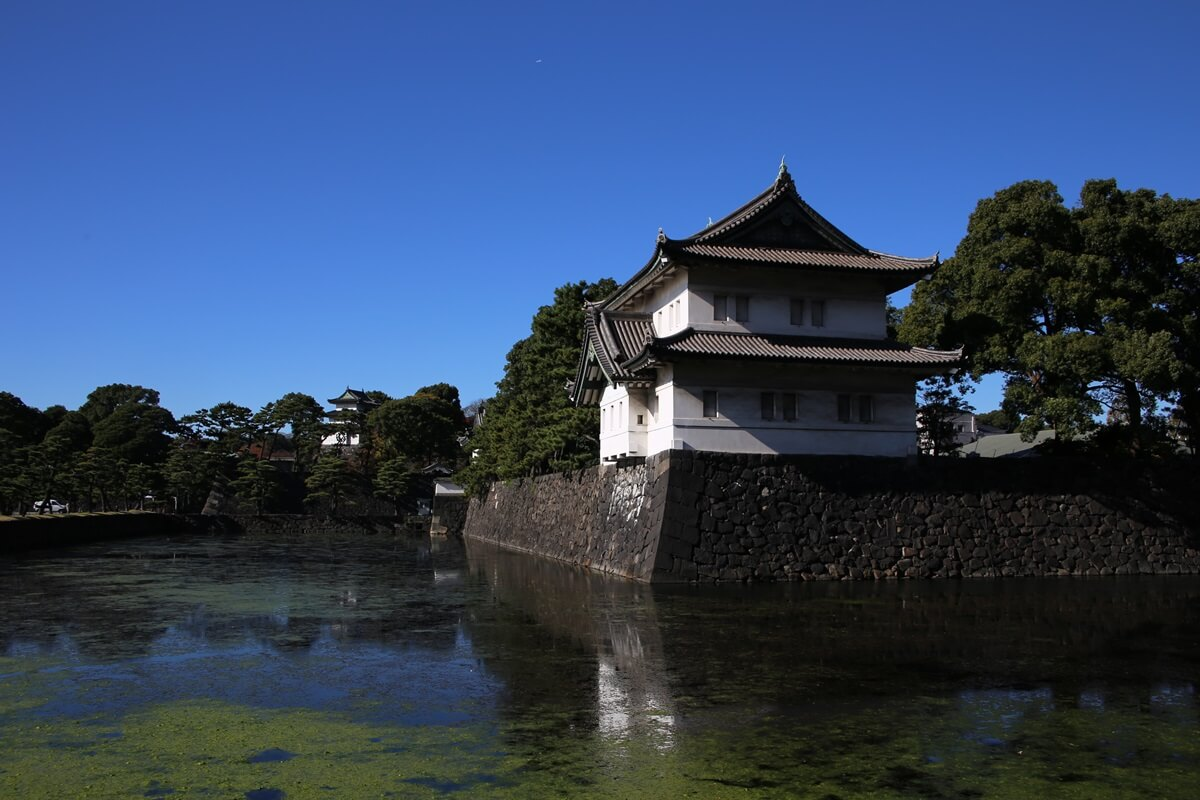 桜田巽櫓 奥に富士見櫓 旧江戸城跡地の紅葉 kokyo_koyo (26)