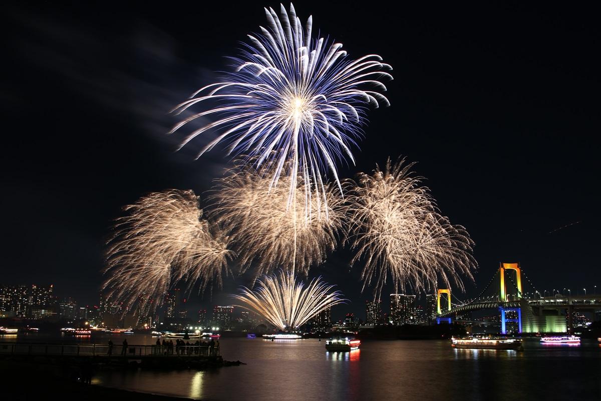 お台場レインボー花火 2014 odaiba tokyo bay  rainbow  fireworks (10)
