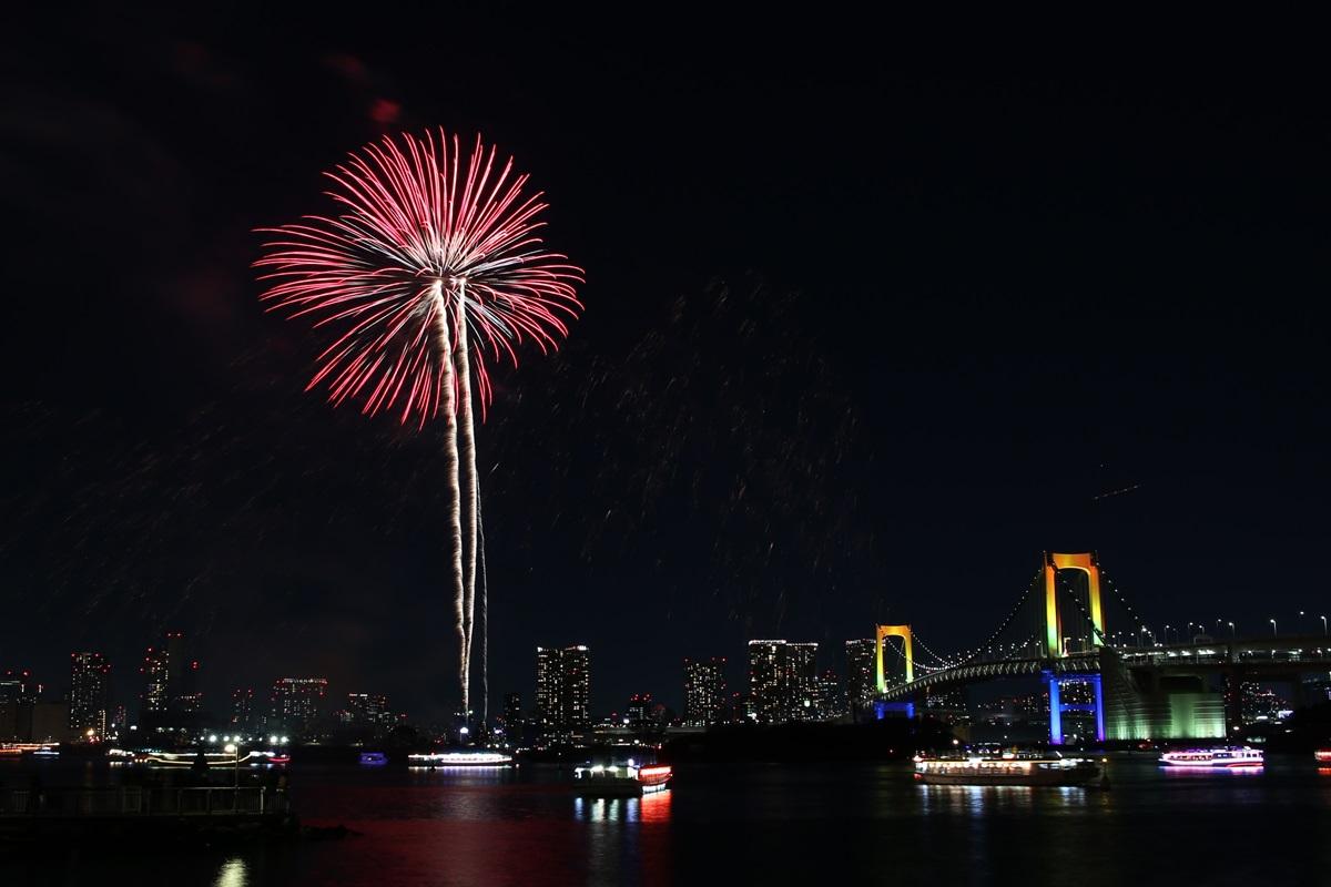 お台場レインボー花火 2014 odaiba tokyo bay  rainbow  fireworks (11)