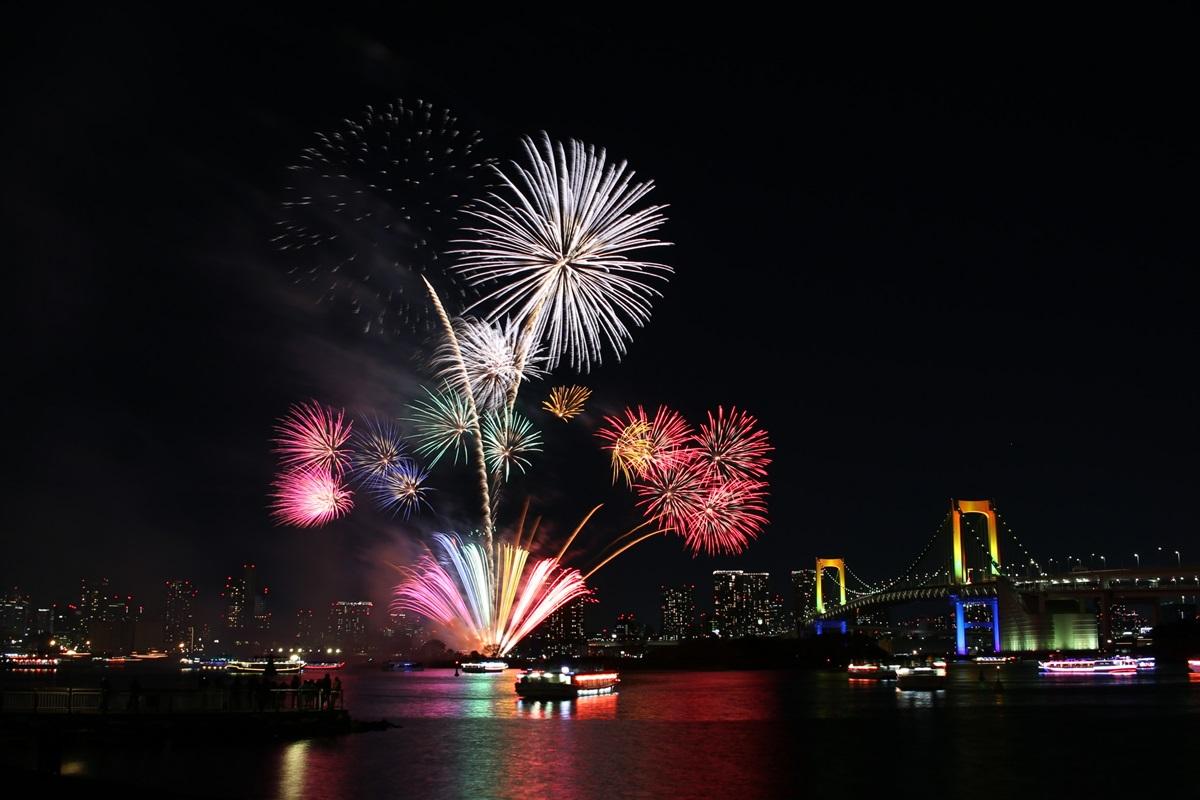 お台場レインボー花火 2014 odaiba tokyo bay  rainbow  fireworks (20)