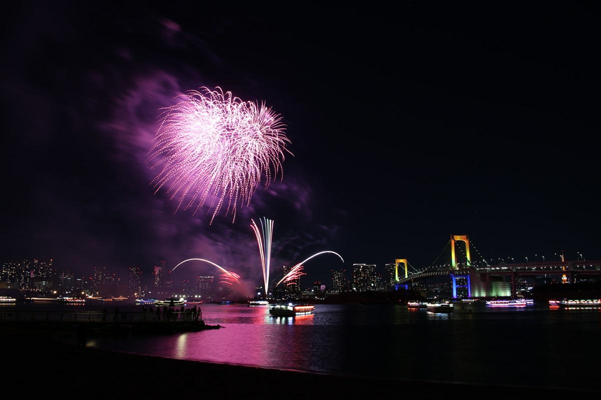 お台場レインボー花火 2014 odaiba tokyo bay  rainbow  fireworks (21)