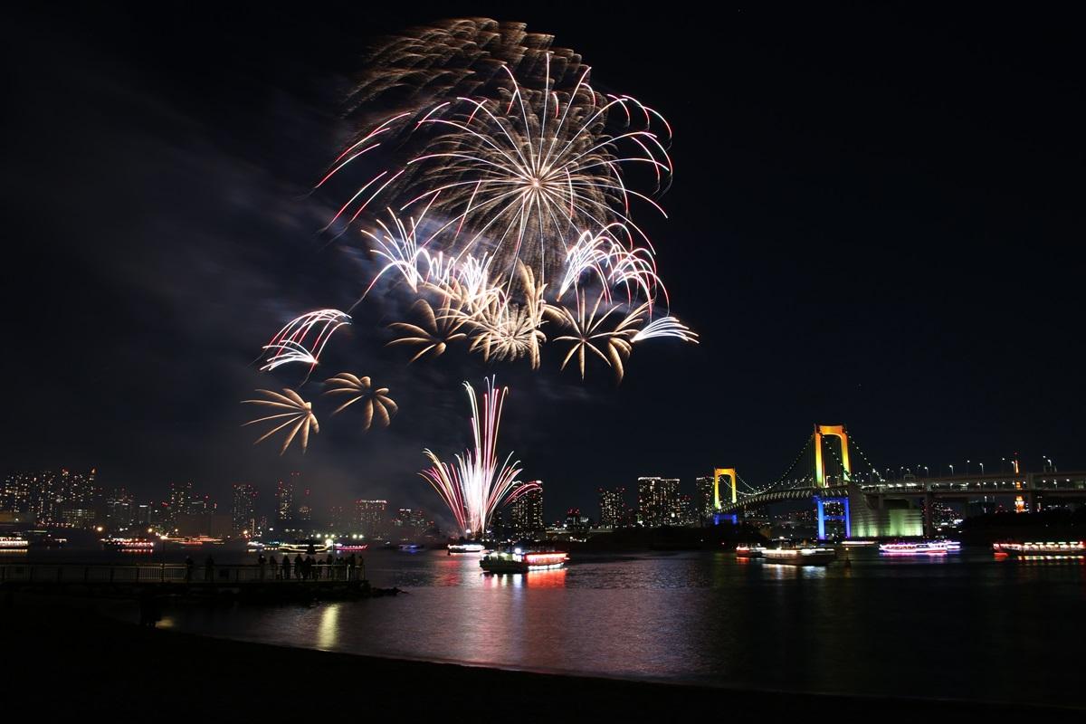 お台場レインボー花火 2014 odaiba tokyo bay  rainbow  fireworks (22)