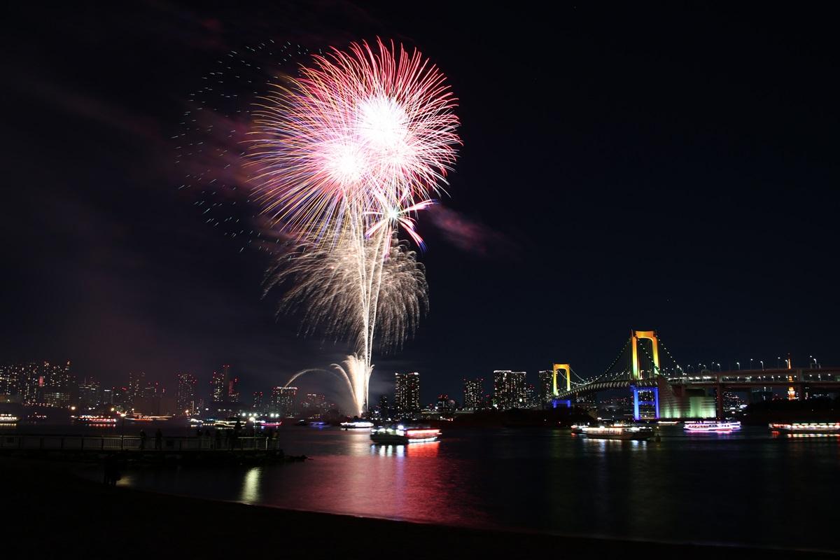 お台場レインボー花火 2014 odaiba tokyo bay  rainbow  fireworks (23)