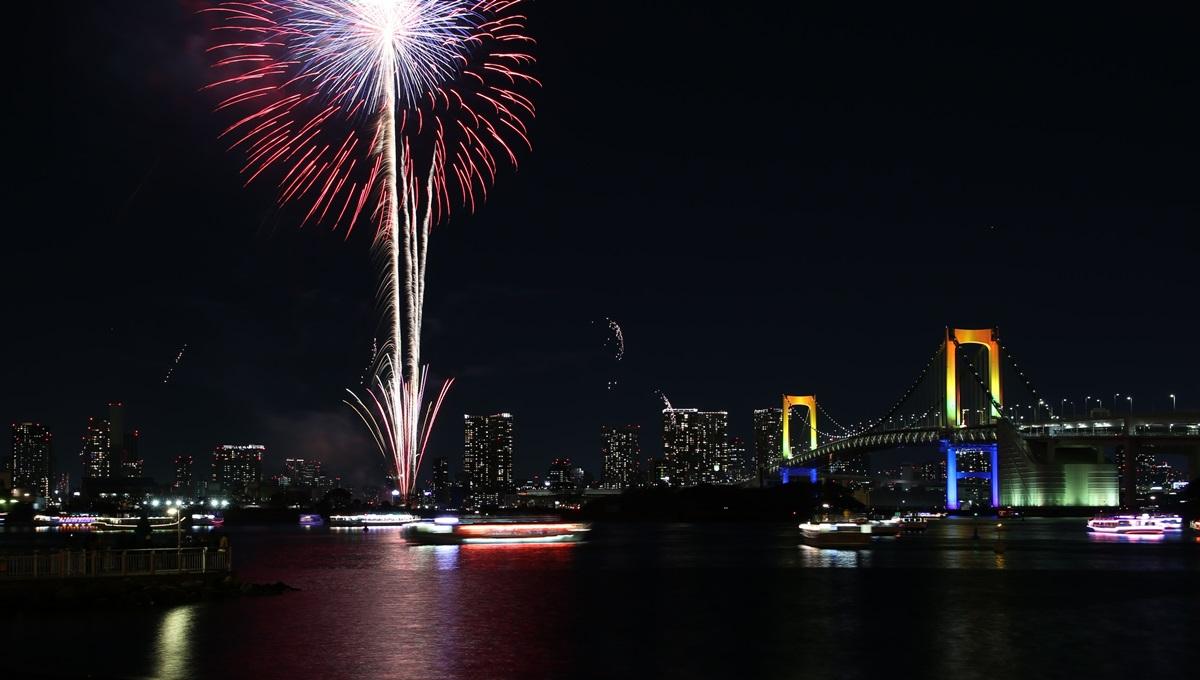 失敗作 お台場レインボー花火 2014 odaiba tokyo bay  rainbow  fireworks (4)