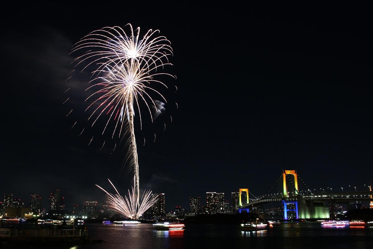 お台場レインボー花火 2014 odaiba tokyo bay  rainbow  fireworks (5)