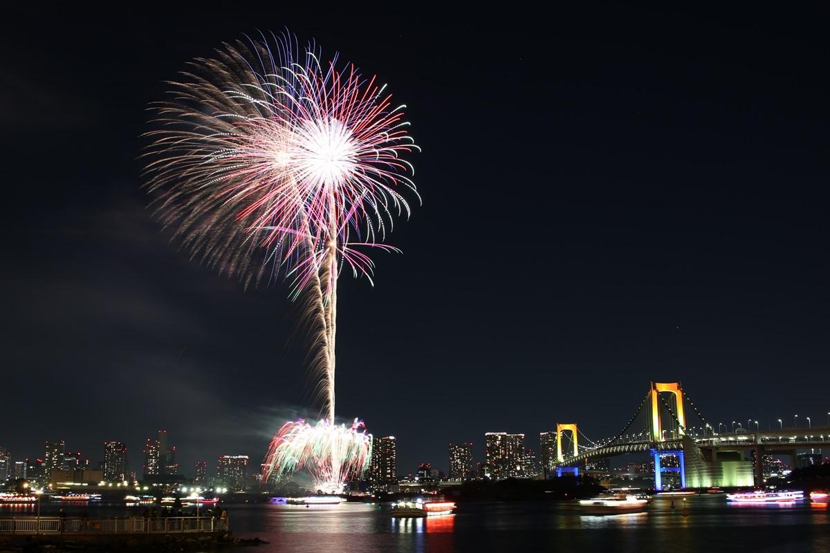 お台場レインボー花火 2014 odaiba tokyo bay  rainbow  fireworks (7)