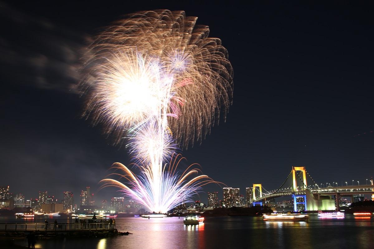 お台場レインボー花火 2014 odaiba tokyo bay  rainbow  fireworks (9)