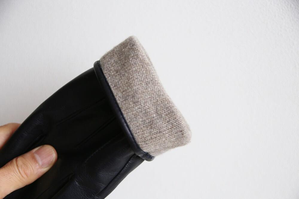 メローラのレザー手袋 裏地はカシミア MEROLA_gloves (5)