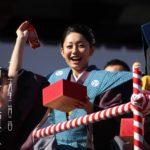 2015年 安藤美姫ちゃん壇上の増上寺にて節分初参戦。