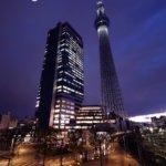 東京スカイツリー『 白 』東京大空襲への鎮魂の思いをこめて。
