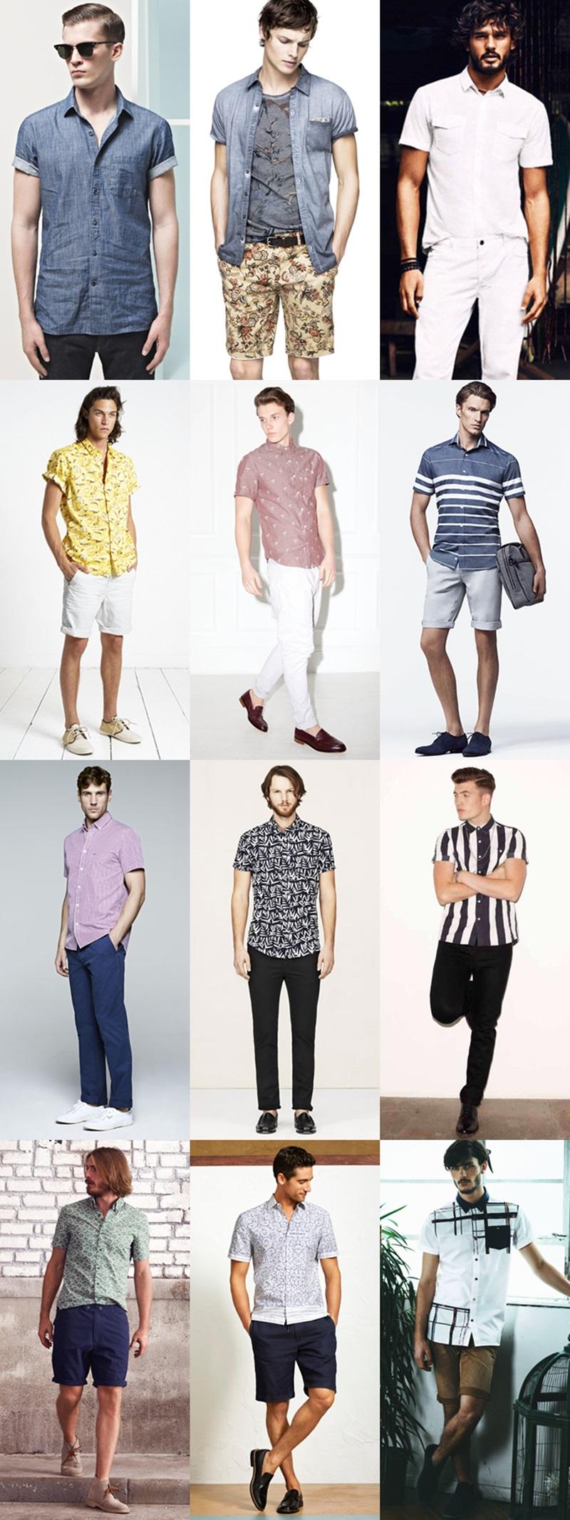メンズ 長袖シャツ Short-sleeved shirt (1)