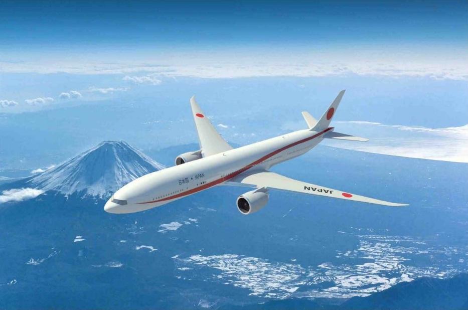 2019年 新政府専用機 japan 777-300ER (2)