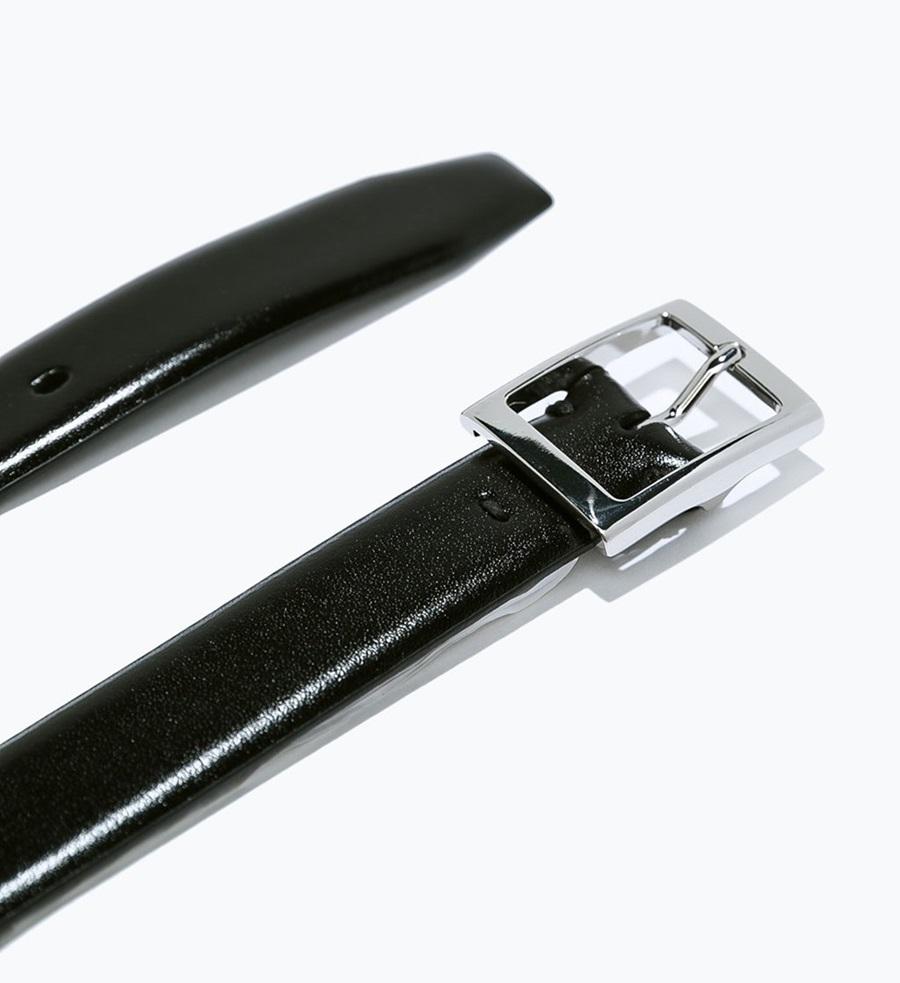 ザラ ダブルバックベルト 黒 85cm ZARA_BELT (1)