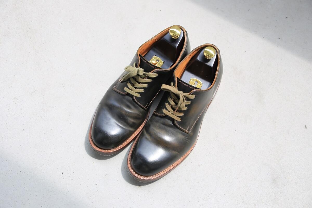 モト プレーントゥ コードバン MOTO Plane Toe Oxford Shoes (1)