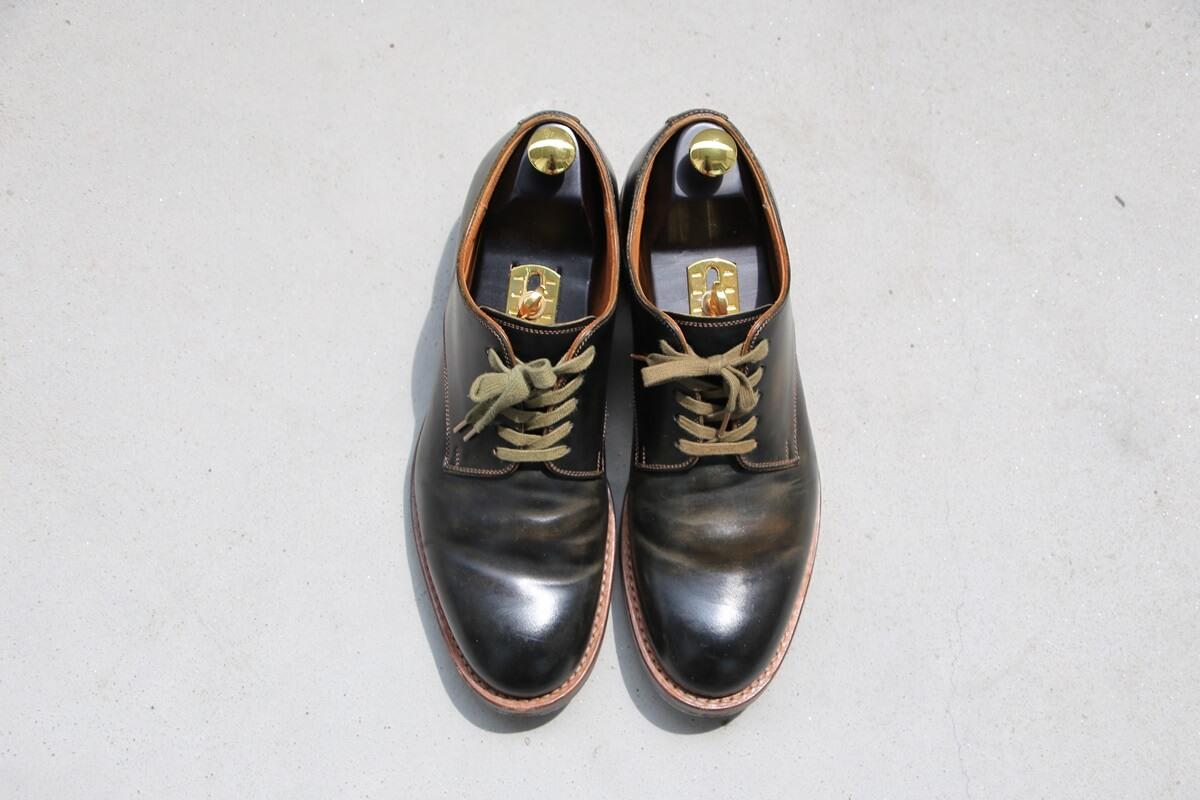 モト プレーントゥ コードバン MOTO Plane Toe Oxford Shoes (2)