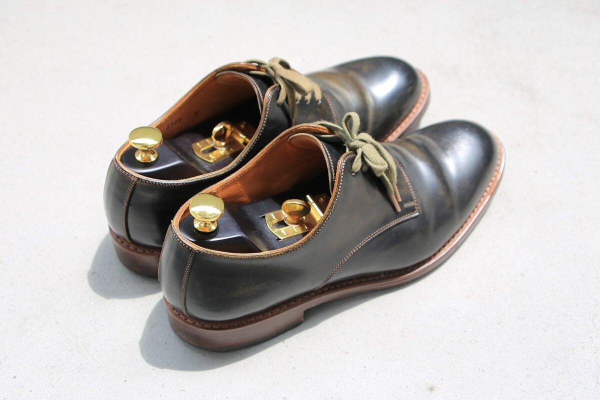 モト プレーントゥ コードバン MOTO Plane Toe Oxford Shoes (3)