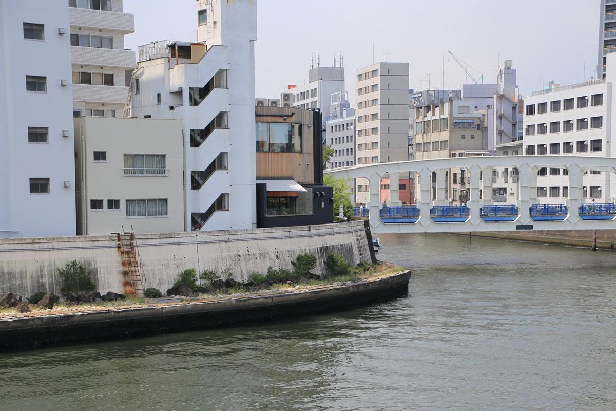 永代橋からのマイル・ポスト・バイク・アンド・カフェ Mile Post Bike and Cafe (2)