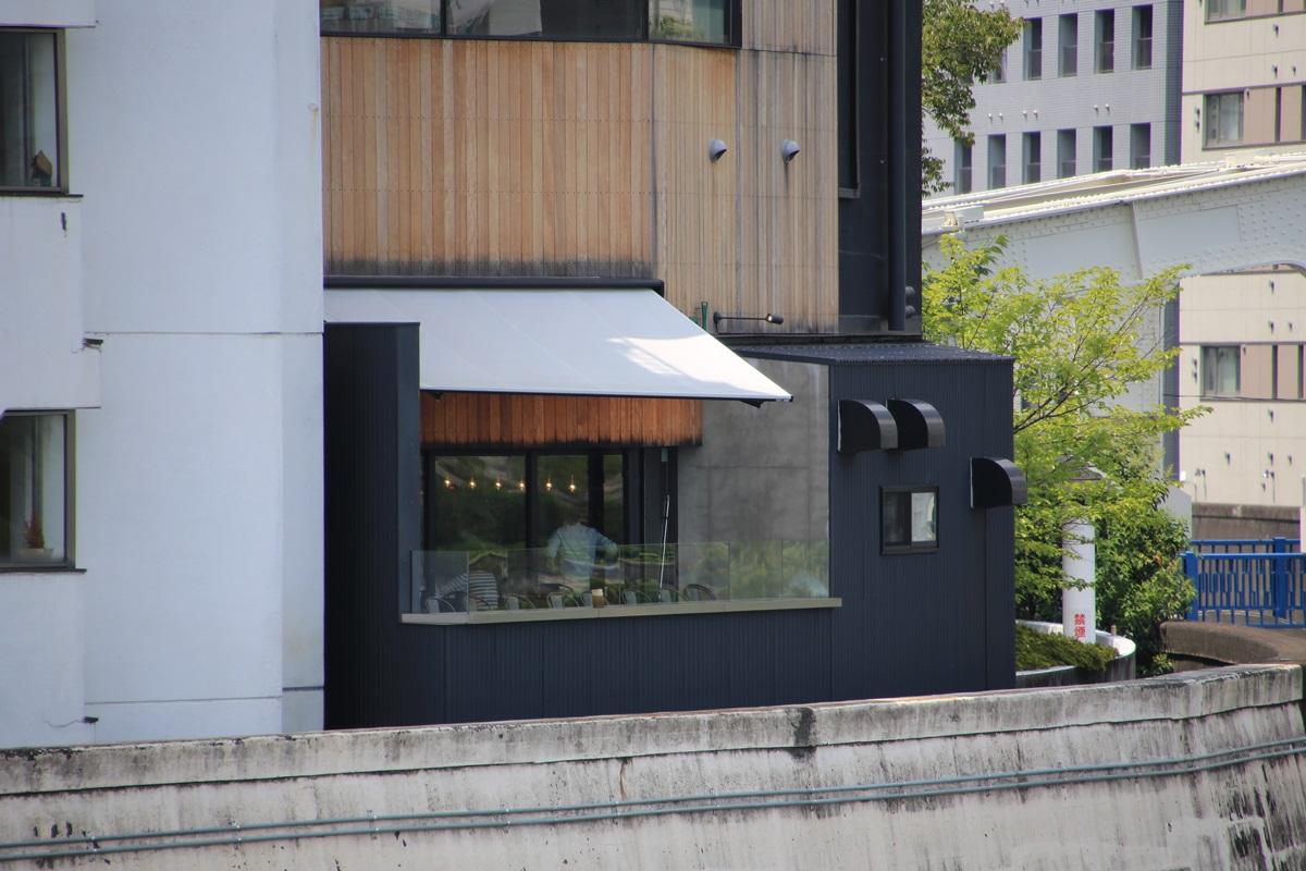 永代橋からのマイル・ポスト・バイク・アンド・カフェ Mile Post Bike and Cafe (4)