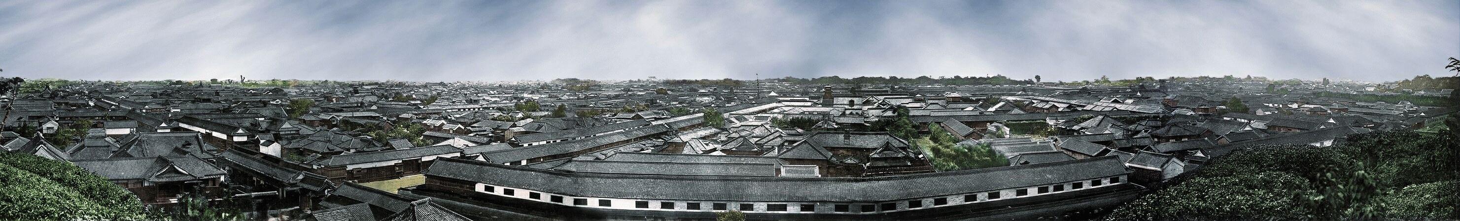 edo 江戸の町並み