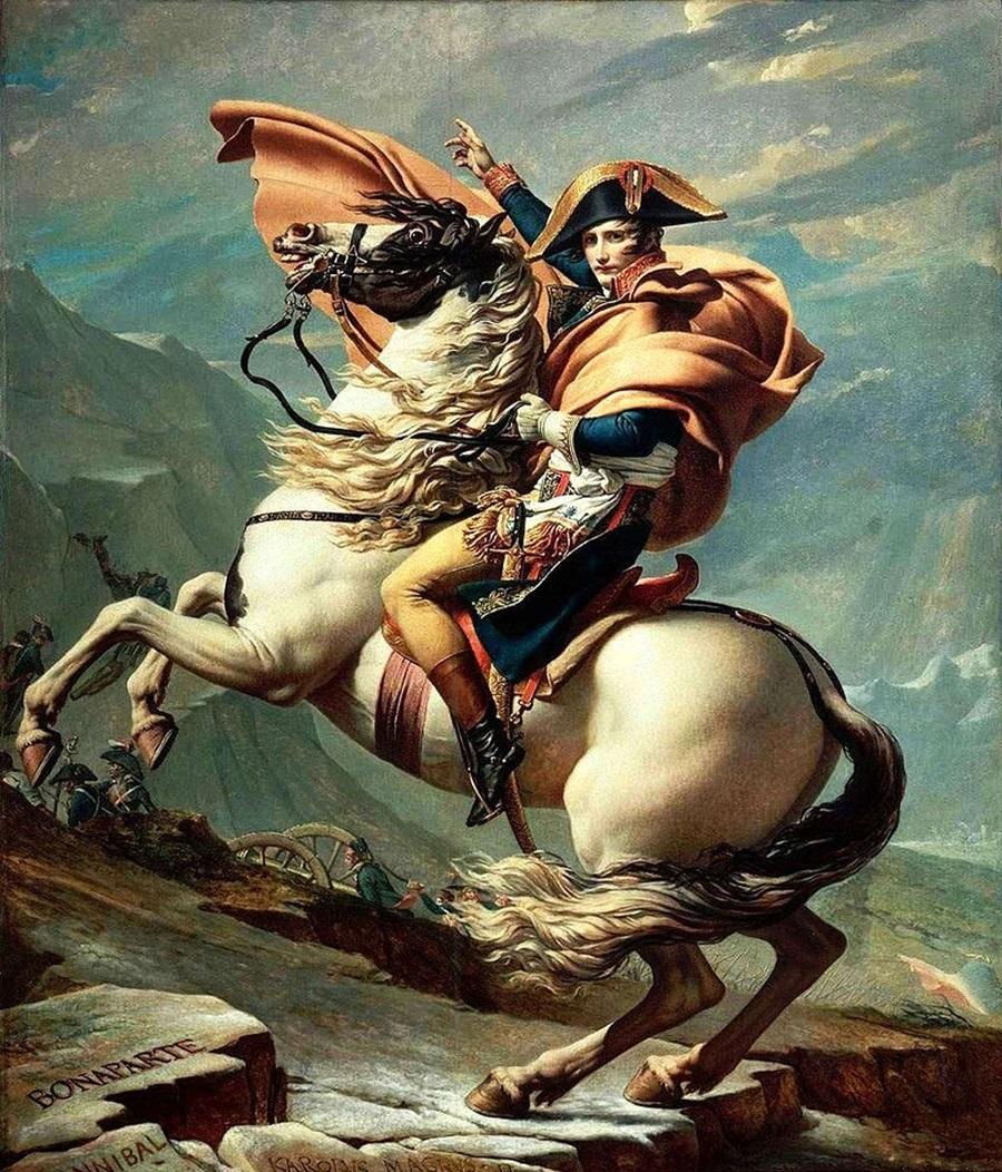ナポレオンの村 ナポレオン・ボナパルト David_-_Napoleon_crossing_the_Alps_-_Malmaison